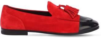 Alberto Fasciani Leather & Suede Loafers W/ Tassels