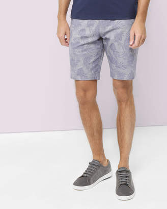 Ted Baker FLOWSHO Palm print cotton shorts