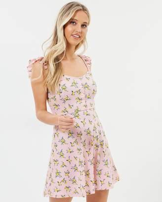Miss Selfridge Floral Frill Button Dress