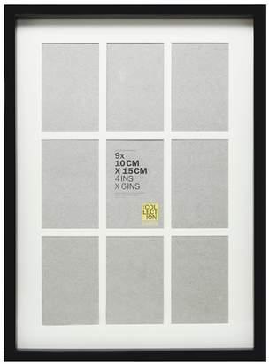 Debenhams Home Collection - Black Nine Aperture Photo Frame