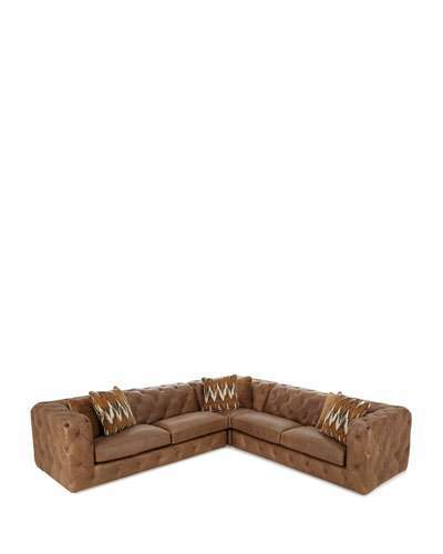 Bernhardt Bernhardt Brewster Three-Piece Leather Sectional