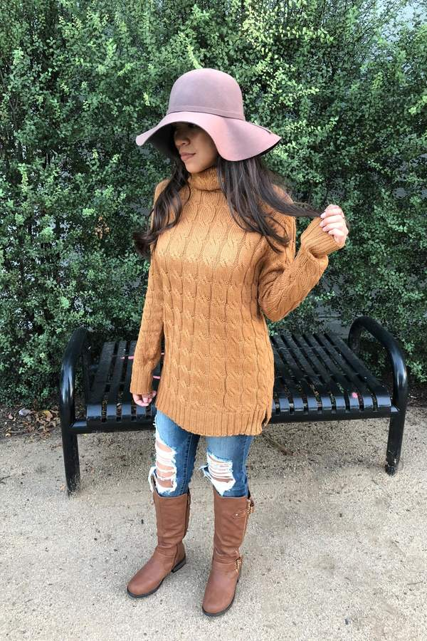 Zenana Outfitters Cozy Coffe Sweater
