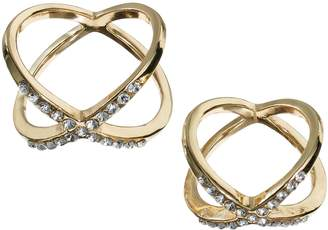 JLO by Jennifer Lopez Crisscross Midi Ring Set