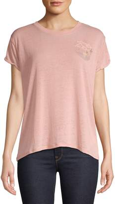 Free People Wipeout Cotton Blend Tee