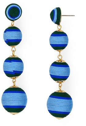 AQUA Margot Ball Drop Earrings - 100% Exclusive $25 thestylecure.com