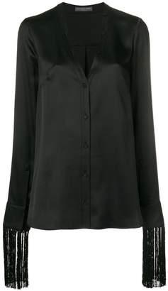 Alexander McQueen fringe trim shirt