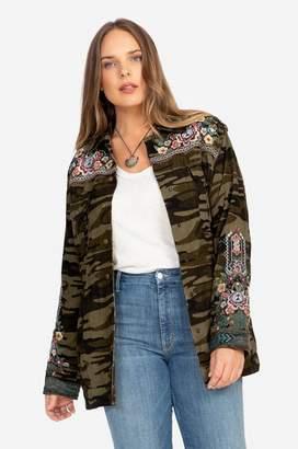 Johnny Was Raquel Drawstring Military Coat-Plus Size