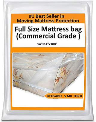 Mattress Bag 5 Mil Thick Reusable Plastic Cover Protector