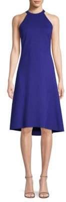 Elie Tahari Mellie Halterneck Flared Dress