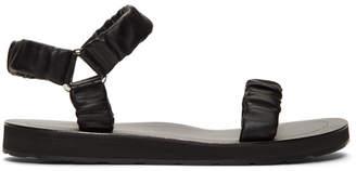 The Row Black Egon Sandals