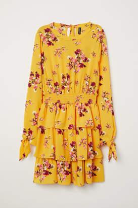H&M Flounced Dress - Yellow