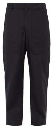 Deveaux - Cotton Blend Tapered Trousers - Mens - Navy