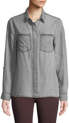 Velvet Heart Lola Embroidered Pocket Button-Down Shirt