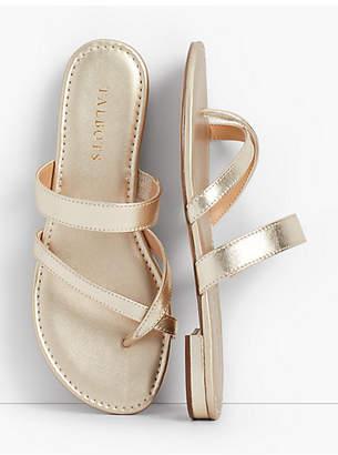 Talbots Gia Toe-Ring Sandals - Metallic Nappa