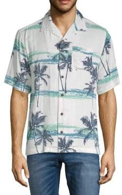 Standard Issue NYC Tropical-Print Button-Down Camp Shirt