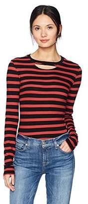 Pam & Gela Women's L/s Stripe Top