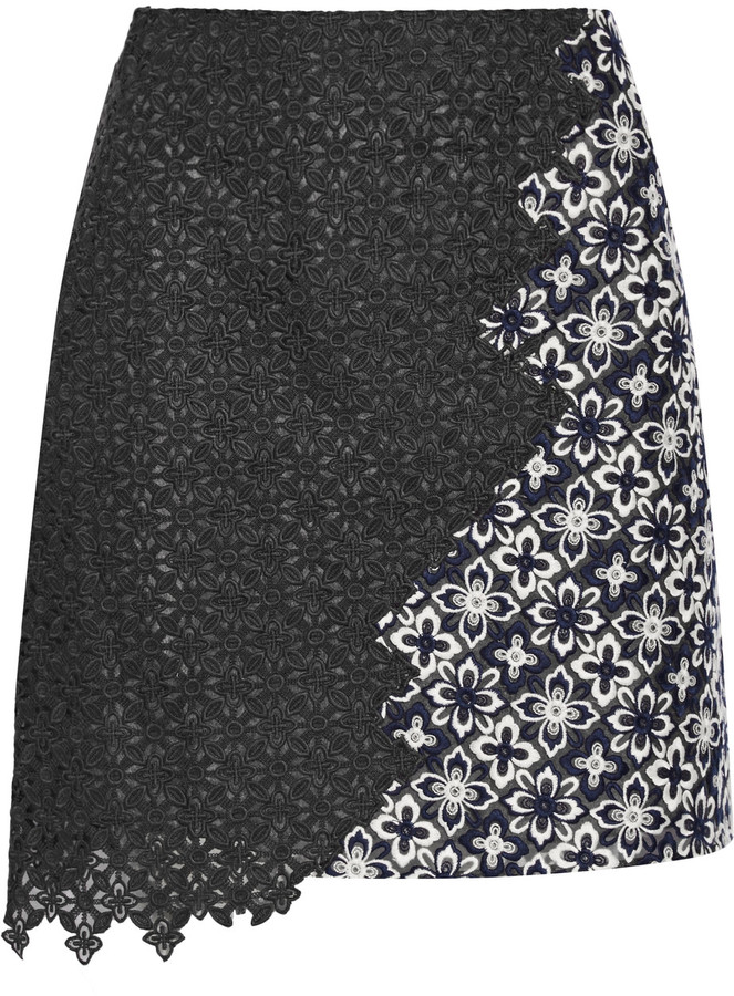 3.1 Phillip Lim3.1 Phillip Lim Asymmetric lace mini skirt