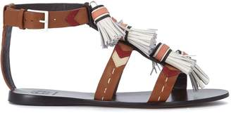 Tory Burch Weaver Leather Sandal With Nappas