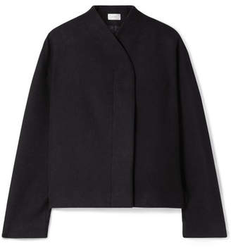 The Row Moona Cotton And Wool-blend Jacket - Black