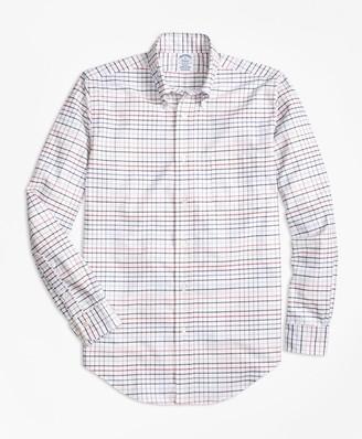Brooks Brothers Regent Fit Oxford Multi-Check Sport Shirt
