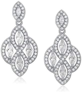 "Anne Klein Precious Pieces"" -Tone and Cubic Zirconia Medium Post Chandelier Drop Earrings"