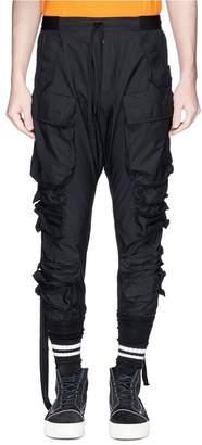 Ben Taverniti Unravel Project Logo strap cargo jogging pants