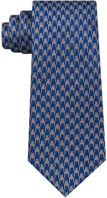 Sean John Men Retro Houndstooth Silk Tie
