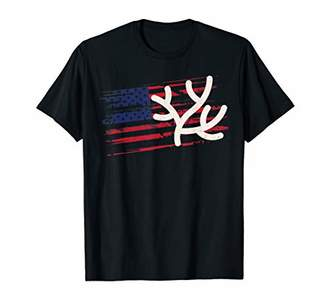 Coral US American Flag Polyp 4th Of July Reef USA Gift T-Shirt