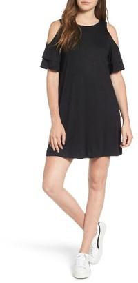 Women's Dee Elly Cold Shoulder Shift Dress $42 thestylecure.com
