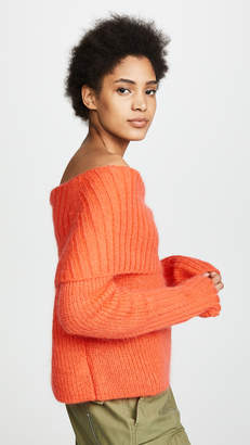 McQ Alexander McQueen Mohair Cowl Neck Sweater
