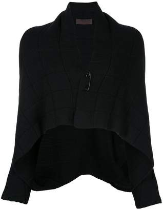 Oyuna quilted effect pinned cardigan