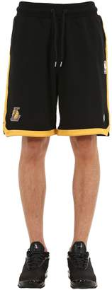 Marcelo Burlon County of Milan La Lakers Cotton Jersey Shorts