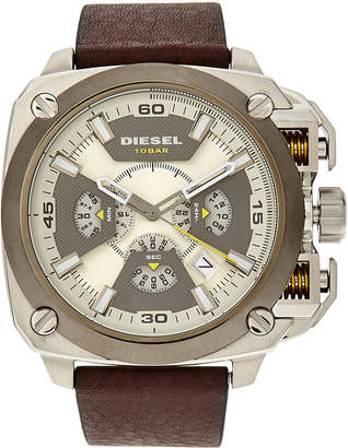 Diesel DZ7343 Silver-Tone & Brown Watch