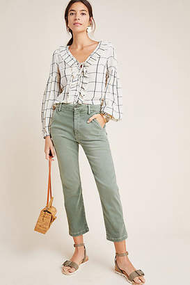 Amo Ultra High-Rise Straight Cropped Trousers