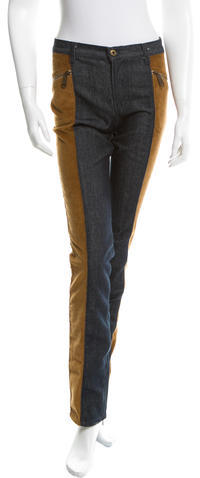 Dolce & GabbanaD&G Corduroy- Accented Straight-Leg Jeans