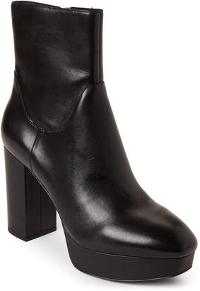 Ash Black Amazon Platform Leather Booties