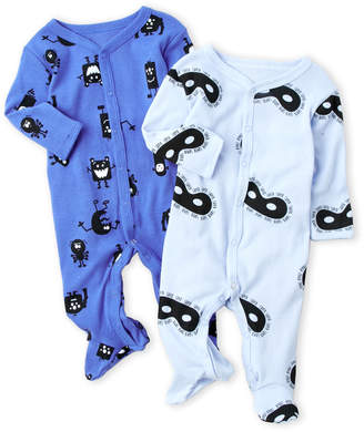 Rosie Pope Baby (Newborn/Infant Boys) Two-Pack Printed Mask Footie Set
