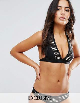 Wolfwhistle Wolf & Whistle Studded Bikini Top A-F Cup