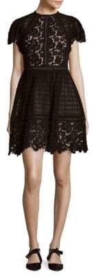 Rebecca Taylor Lace Mix Cotton Dress