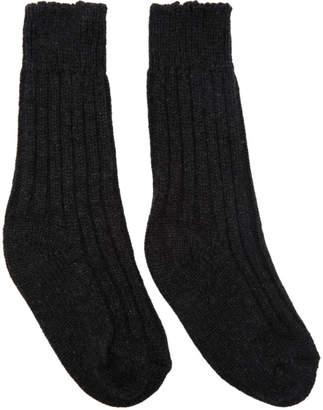 The Elder Statesman Grey Cashmere Yosemite Socks