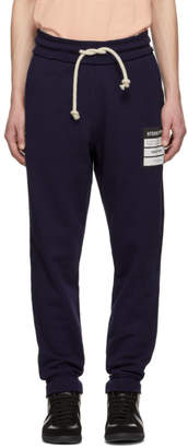 Maison Margiela Blue French Terry Stereotype Lounge Pants