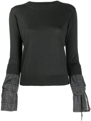 Fabiana Filippi contrast cuff sweater