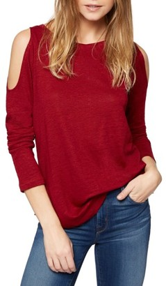 Women's Sanctuary Lolita Linen Cold Shoulder Tee $59 thestylecure.com