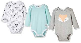Silly Apples Pure Cotton Baby Boys Girls Long-Sleeve Bodysuit Onesies 3-Pack ()