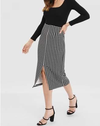 Forcast Amora Front Split Skirt