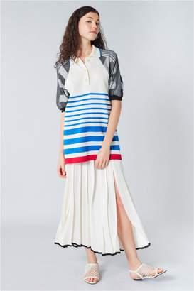 Sonia Rykiel Short-Sleeved Striped Polo Shirt