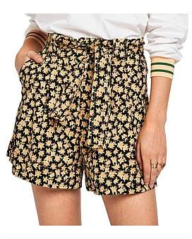 Scotch & Soda Clean Wide Leg Shorts With Shell Fabric Belt
