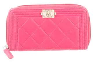Chanel Small Quilted Boy L-Gusset Wallet Pink Small Quilted Boy L-Gusset Wallet