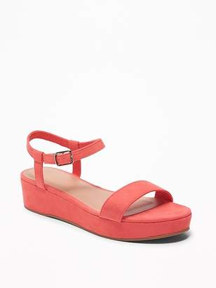 Old Navy Sueded Ankle-Strap Platform Sandals for Women