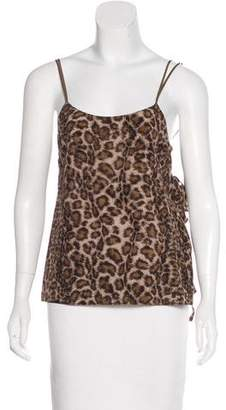 Helmut Lang Silk Cheetah Print Top w/ Tags